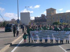 Manifestación en Valladolid a favor de la educación pública 1 de febrero 2014 (11)
